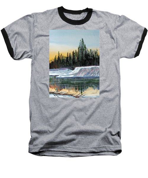 Baseball T-Shirt featuring the painting Winter Reflections by Jack G  Brauer