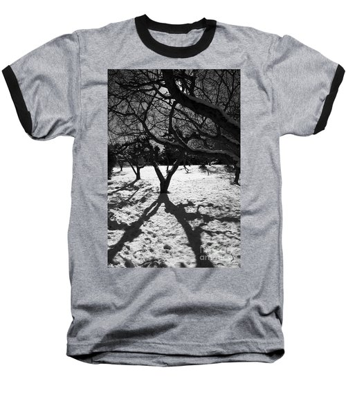 Baseball T-Shirt featuring the photograph Winter Shadows by Yulia Kazansky