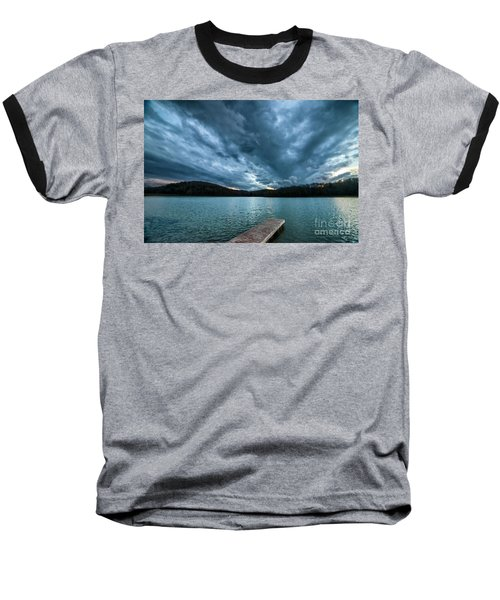 Baseball T-Shirt featuring the photograph Winter Storm Clouds by Thomas R Fletcher