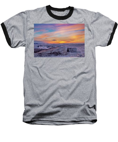 Winter Sunset Baseball T-Shirt