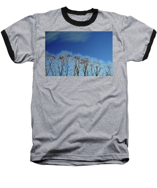 Winter Trees And Sky 3  Baseball T-Shirt