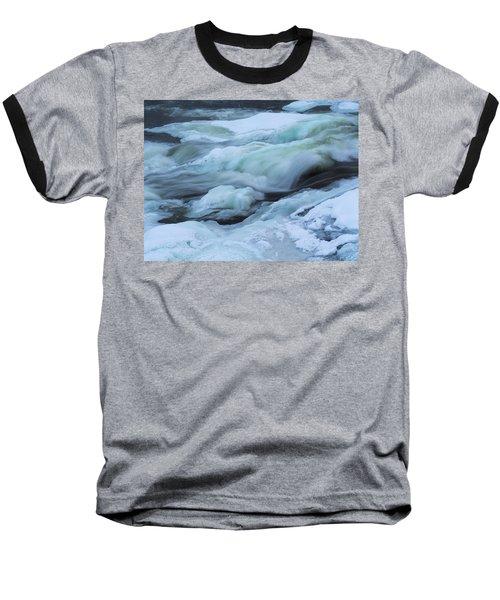Winter Waterfall Baseball T-Shirt