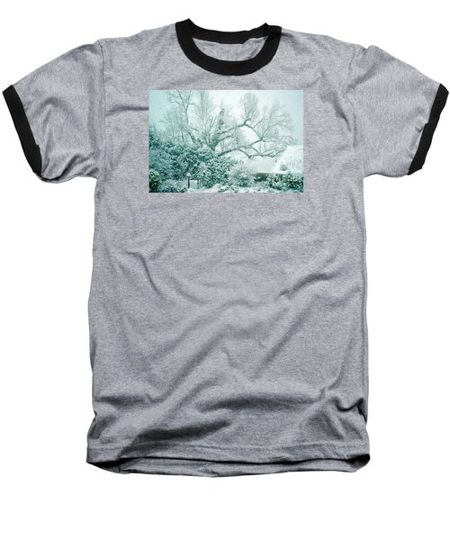 Baseball T-Shirt featuring the photograph Winter Wonderland In Switzerland by Susanne Van Hulst