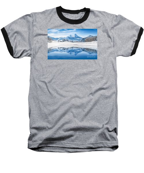 Winter Wonderland In The Alps Baseball T-Shirt by JR Photography