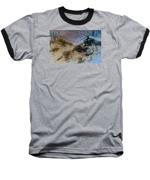Baseball T-Shirt featuring the painting Winter's Morn by Carolyn Rosenberger