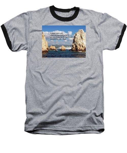 Baseball T-Shirt featuring the photograph Wisdom by Gary Wonning