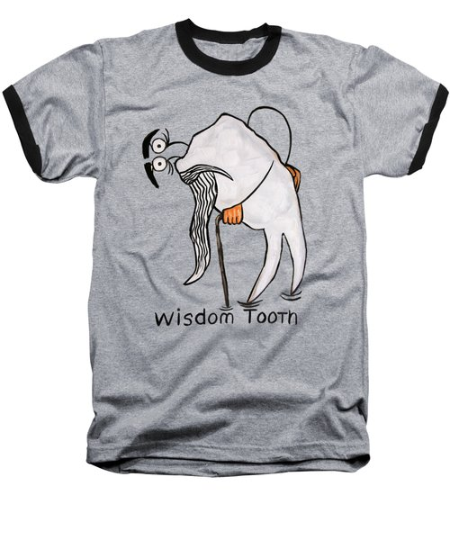 Wisdom Tooth Baseball T-Shirt by Anthony Falbo