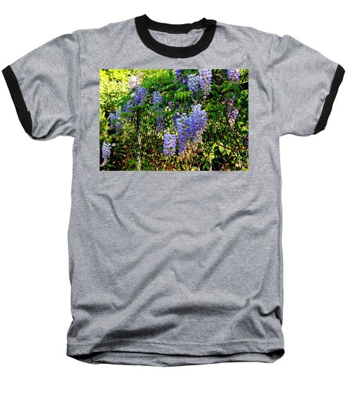 Baseball T-Shirt featuring the photograph Wisteria by Betty-Anne McDonald
