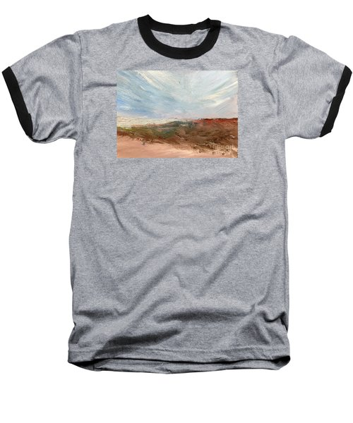 Baseball T-Shirt featuring the painting Witness by Trilby Cole