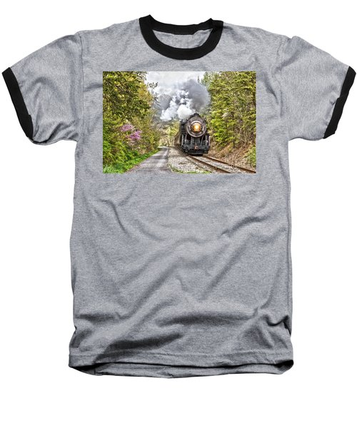 Wmsr Steam Engine 734  Baseball T-Shirt