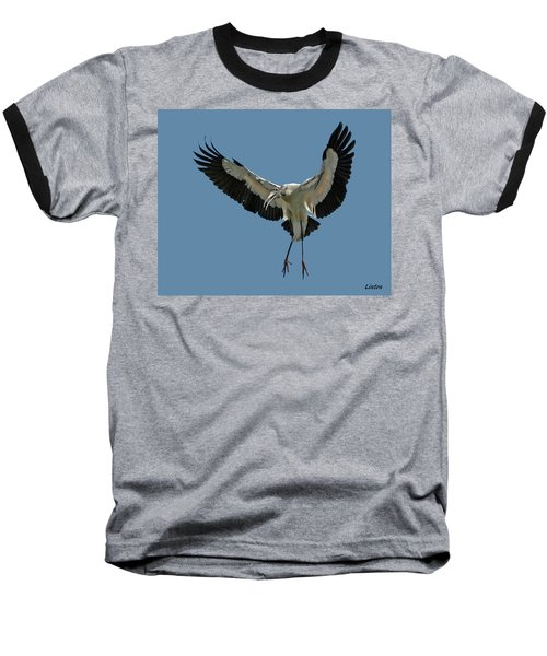 Wood Stork Baseball T-Shirt