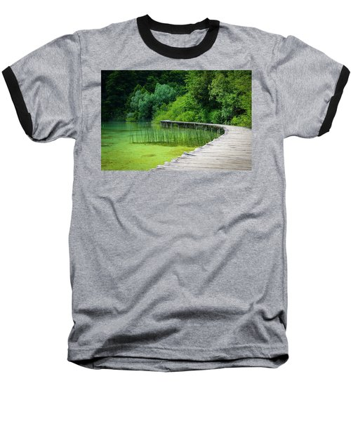 Wooden Path In The Forest Baseball T-Shirt