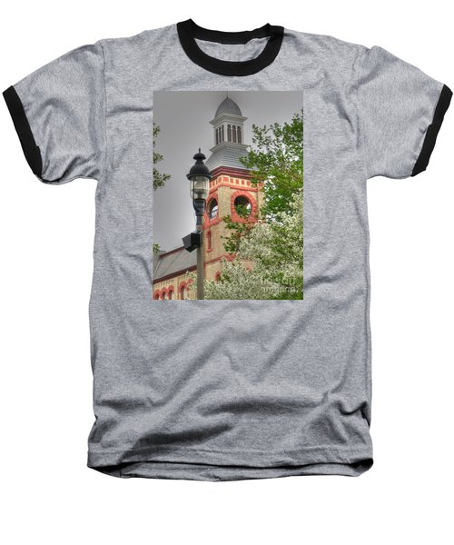 Woodstock Opera House Baseball T-Shirt by David Bearden