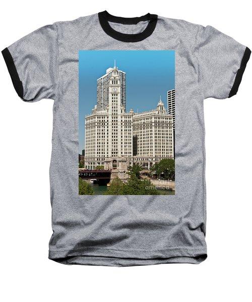 Wrigley Building Baseball T-Shirt