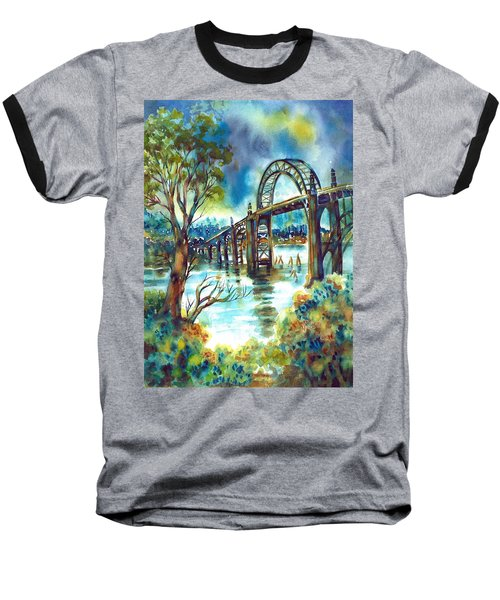 Yaquina Bay Bridge Baseball T-Shirt
