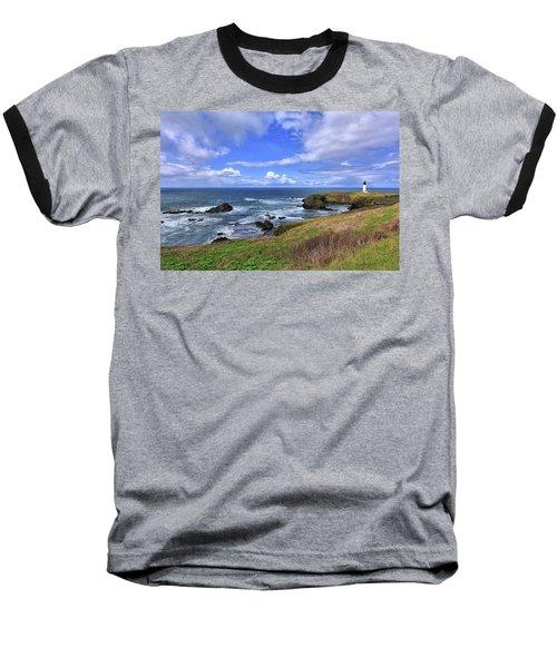 Yaquina Head Lighthouse Baseball T-Shirt