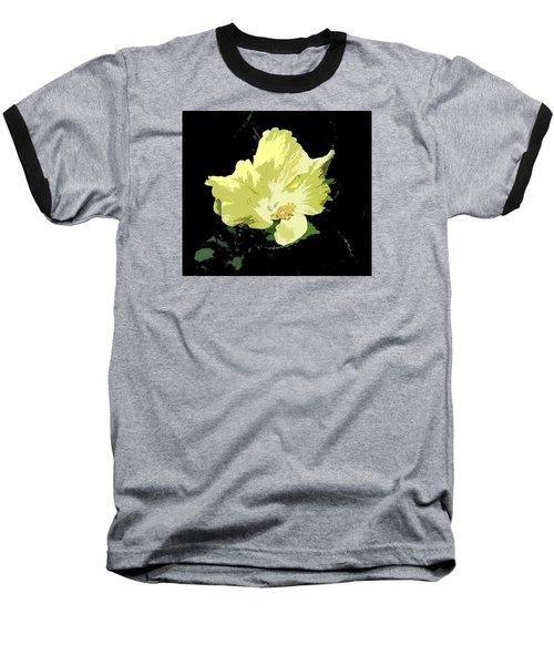 Yellow Beauty Baseball T-Shirt by Karen Nicholson