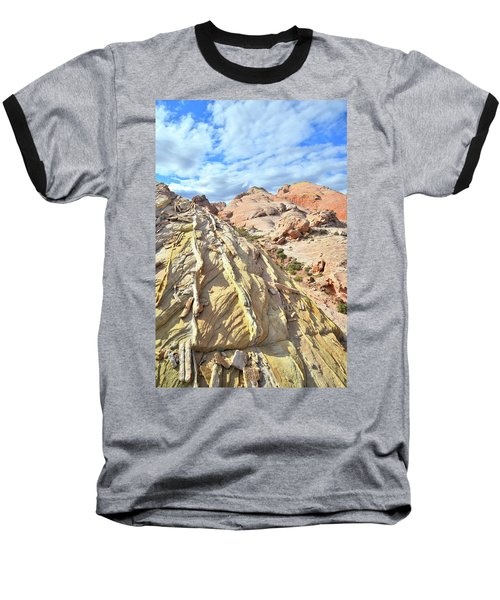 Yellow Brick Road In Valley Of Fire Baseball T-Shirt by Ray Mathis