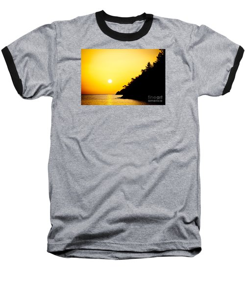 Yellow Sunrise Seascape And Sun Artmif Baseball T-Shirt