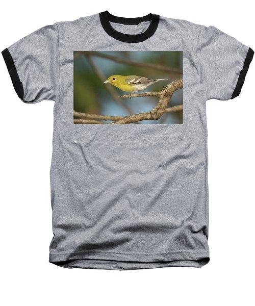 Yellow-throated Vireo Baseball T-Shirt by Alan Lenk