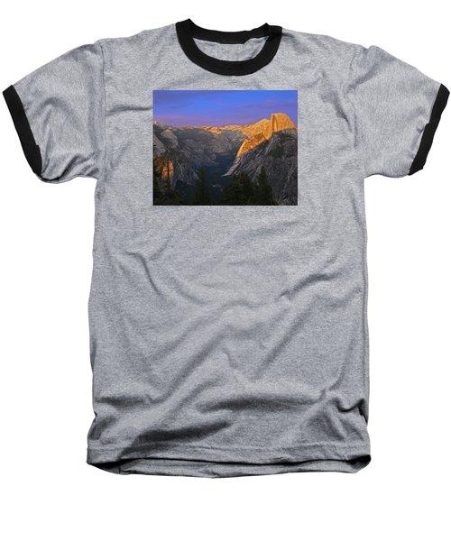 Yosemite Summer Sunset 2012 Baseball T-Shirt