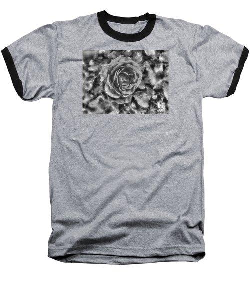 Baseball T-Shirt featuring the pyrography Yury Bashkin Black Rose by Yury Bashkin