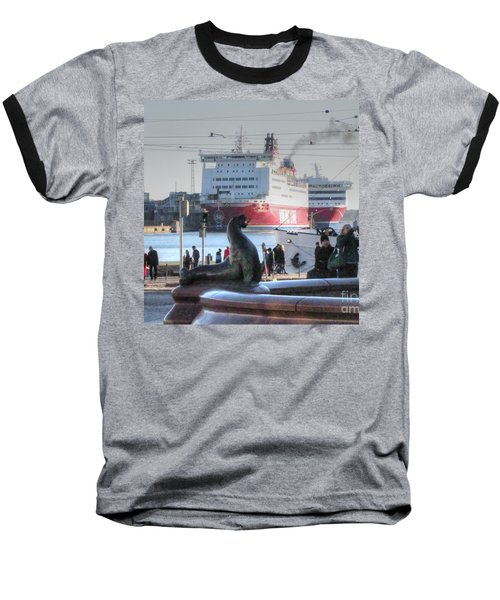 Baseball T-Shirt featuring the pyrography Yury Bashkin Helsinki Finland by Yury Bashkin