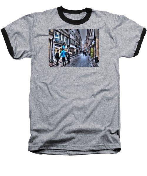 Baseball T-Shirt featuring the pyrography Yury Bashkin Stokholm Street by Yury Bashkin