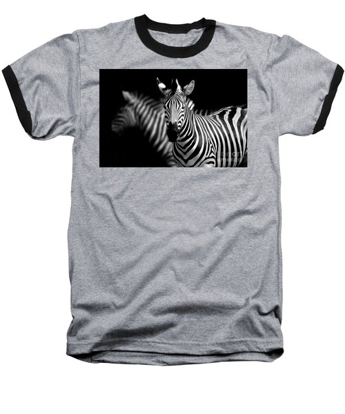 Baseball T-Shirt featuring the photograph Zebra by Charuhas Images