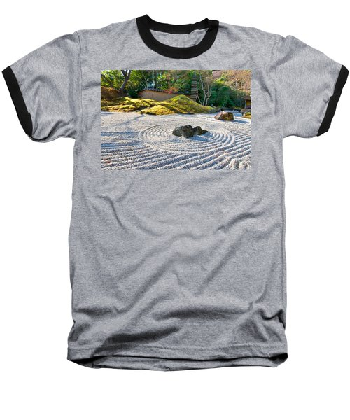 Zen Garden At A Sunny Morning Baseball T-Shirt by Ulrich Schade