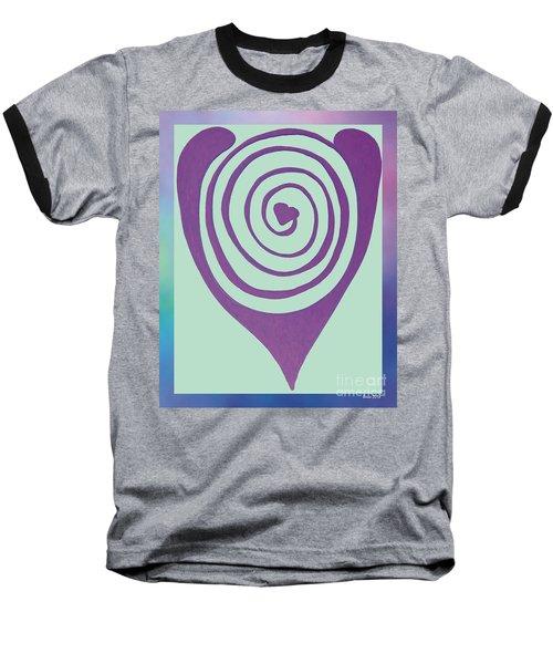 Zen Heart Labyrinth Path Baseball T-Shirt