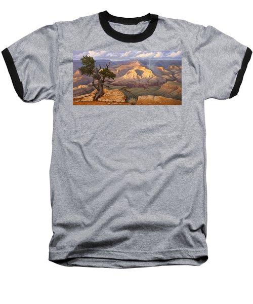 Zoroaster Temple From Yaki Point Baseball T-Shirt by Paul Krapf