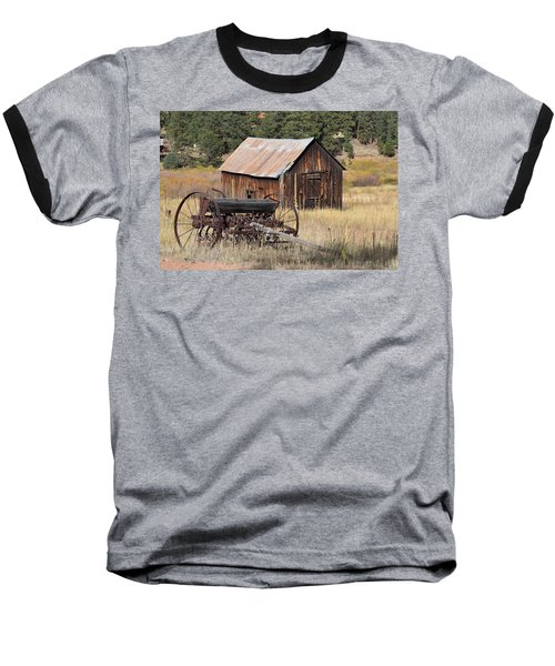 Seed Tiller - Barn Westcliffe Co Baseball T-Shirt