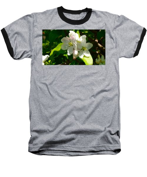 Baseball T-Shirt featuring the painting Apple Blossoms by Johanna Bruwer
