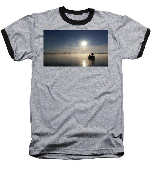 10 Below Zero Fishing Baseball T-Shirt by Brook Burling
