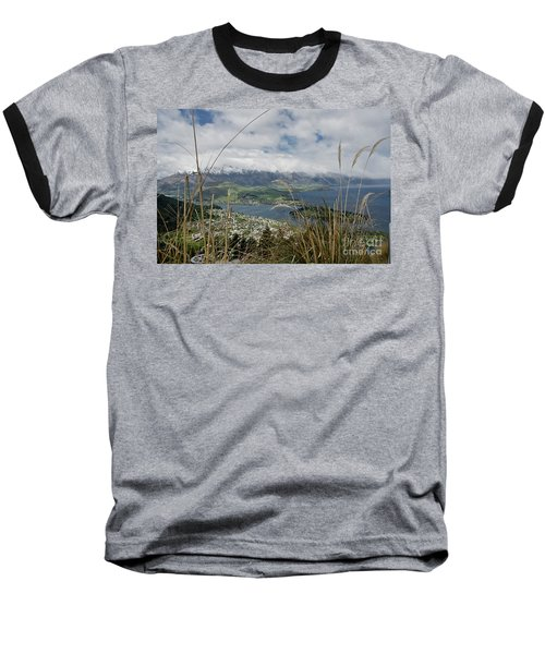 Queenstown New Zealand. Remarkable Ranges And Lake Wakatipu. Baseball T-Shirt by Yurix Sardinelly