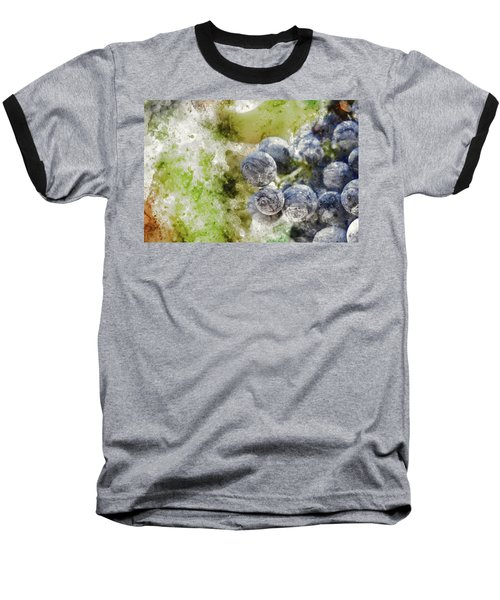 Red Grapes On The Vine Baseball T-Shirt
