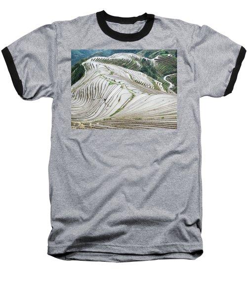 Terrace Fields Scenery In Spring Baseball T-Shirt