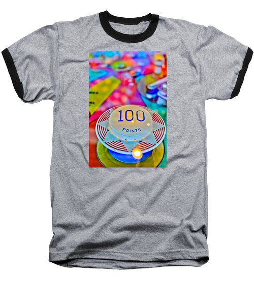 100 Points - Pinball Baseball T-Shirt by Colleen Kammerer