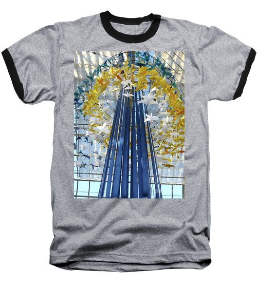 1000 Paper Cranes Baseball T-Shirt
