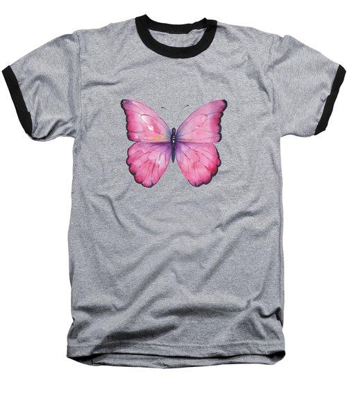 105 Pink Celestina Butterfly Baseball T-Shirt