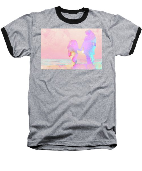 10876 Sunset With Mom Baseball T-Shirt by Pamela Williams