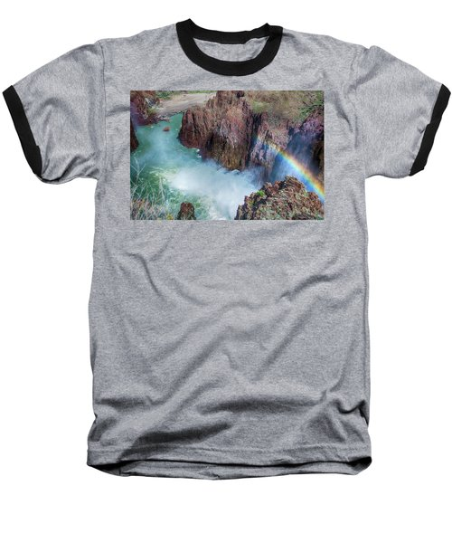 10883 Rainbow Over Owyhee Baseball T-Shirt by Pamela Williams