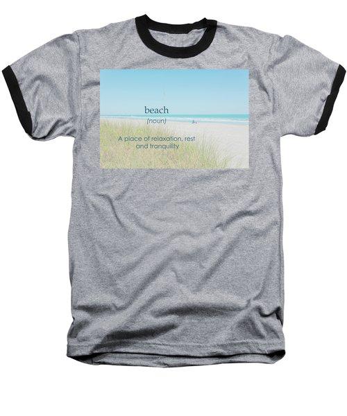 10967 Beach Tranquility Baseball T-Shirt