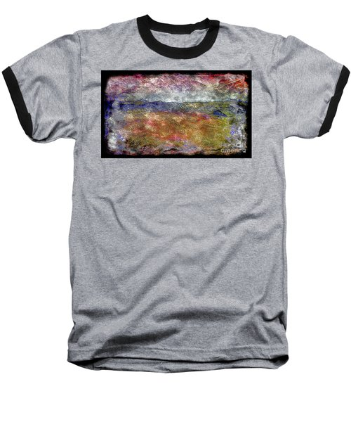 10c Abstract Expressionism Digital Painting Baseball T-Shirt