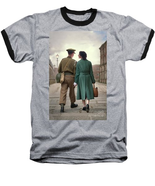 1940s Couple Baseball T-Shirt by Lee Avison