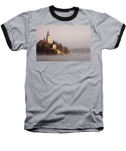 Misty Lake Bled Baseball T-Shirt