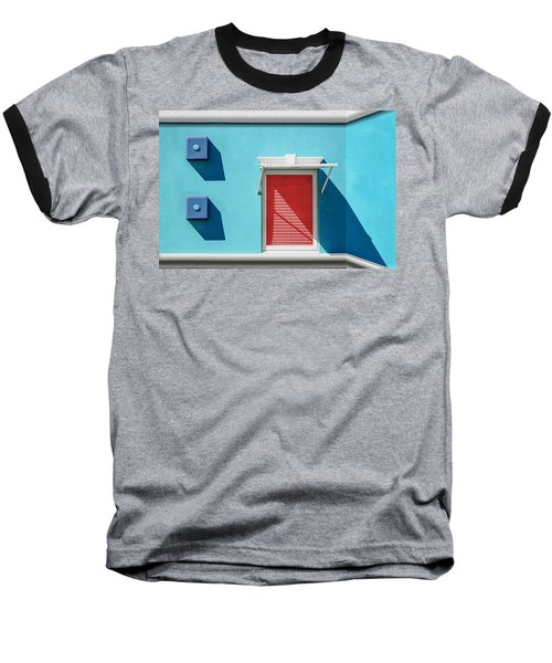 11 O'clock Shadow Baseball T-Shirt by Paul Wear