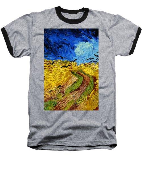 Wheatfield With Crows Baseball T-Shirt