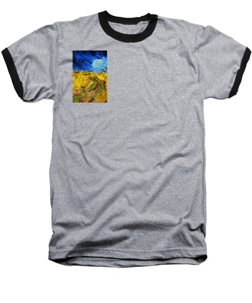 Wheatfield With Crows Baseball T-Shirt